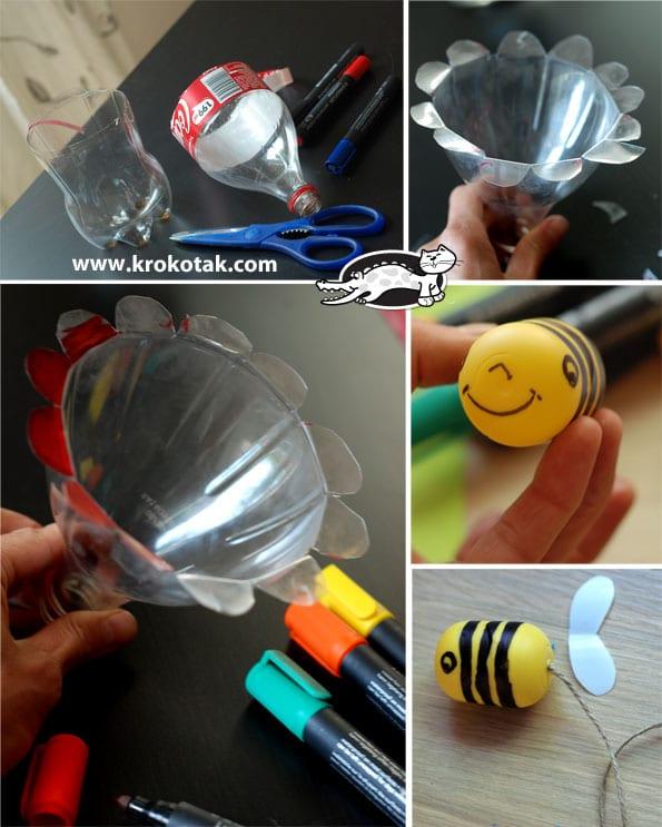 Plastik şişeden arı: güzelliği yarat
