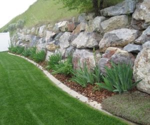 Taşlarla Yapılmış Bahçe Fikirleri 31