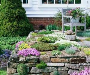 Taşlarla Yapılmış Bahçe Fikirleri 32