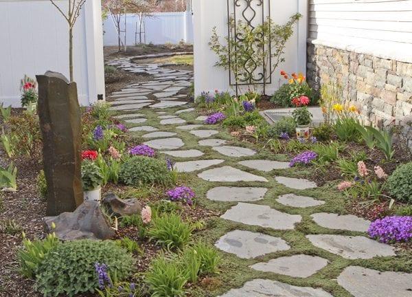 Taşlarla Yapılmış Bahçe Fikirleri 11