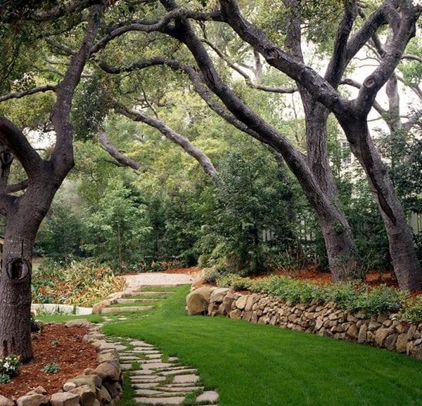 Taşlarla Yapılmış Bahçe Fikirleri 9