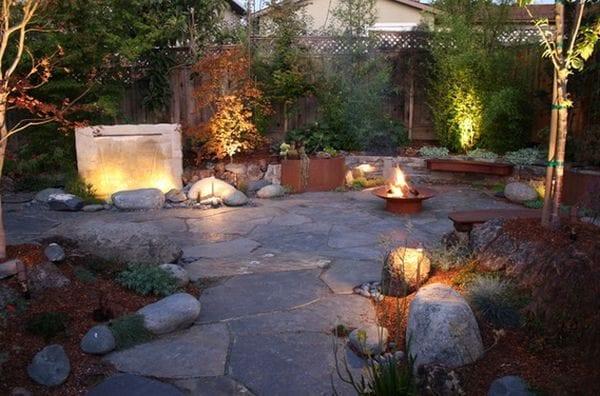 Taşlarla Yapılmış Bahçe Fikirleri 6