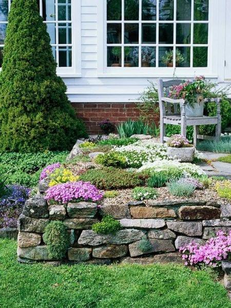 Taşlarla Yapılmış Bahçe Fikirleri 7