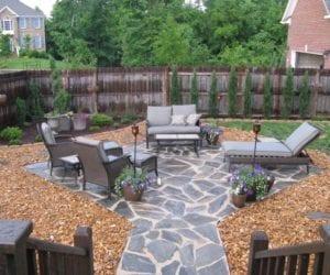 Taşlarla Yapılmış Bahçe Fikirleri 25