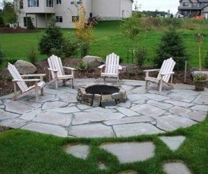 Taşlarla Yapılmış Bahçe Fikirleri 26