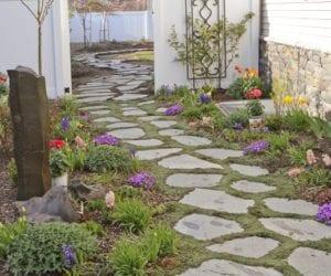 Taşlarla Yapılmış Bahçe Fikirleri 27