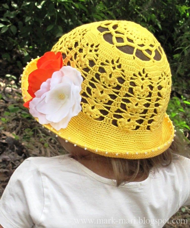 Tığ İşi Örgü Yazlık Şapka Yapılışı 1