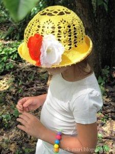 Tığ İşi Örgü Yazlık Şapka Yapılışı 2