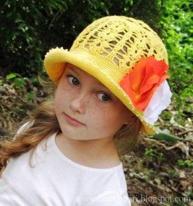 Tığ İşi Örgü Yazlık Şapka Yapılışı 3