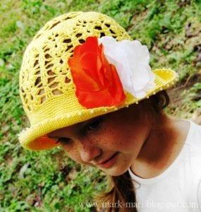 Tığ İşi Örgü Yazlık Şapka Yapılışı 4