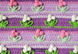 Tomurcuk Çiçek Battaniye Modeli 25