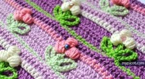Tomurcuk Çiçek Battaniye Modeli 26