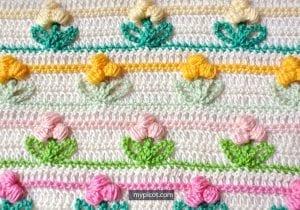 Tomurcuk Çiçek Battaniye Modeli