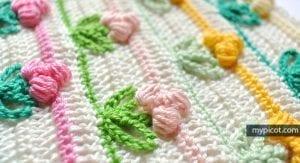 Tomurcuk Çiçek Battaniye Modeli 29