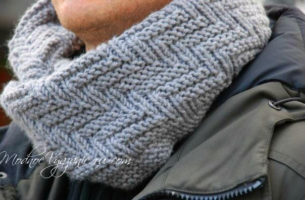 Мужской шарф английской резинкой схема фото 147
