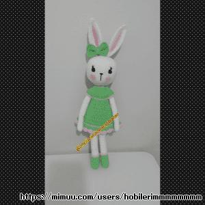 Yeşil Elbiseli Çırpı Bacak Tavşanım