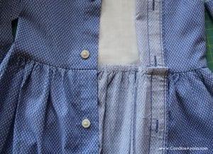 Baba Gömleğinden Elbise Yapımı 11