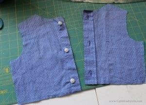 Baba Gömleğinden Elbise Yapımı 8