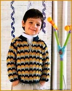 Erkek Çocuk Kazak Örgü Modelleri Anlatımlı