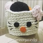 Hello Kitty Penye Sepet Nasıl Yapılır? 1