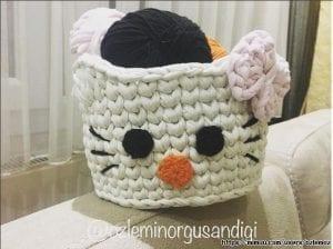 Hello Kitty Penye Sepet Nasıl Yapılır?