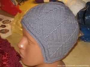 Kırkyama Tekniği Örgü Atkı - Şapka Yapımı 6