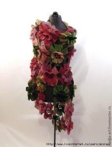 Örgü Çiçek Modeli Şal Yapılışı 3
