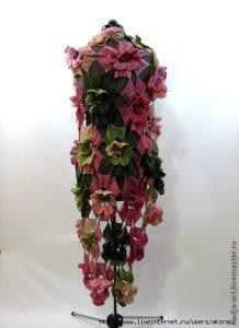 Örgü Çiçek Modeli Şal Yapılışı 4