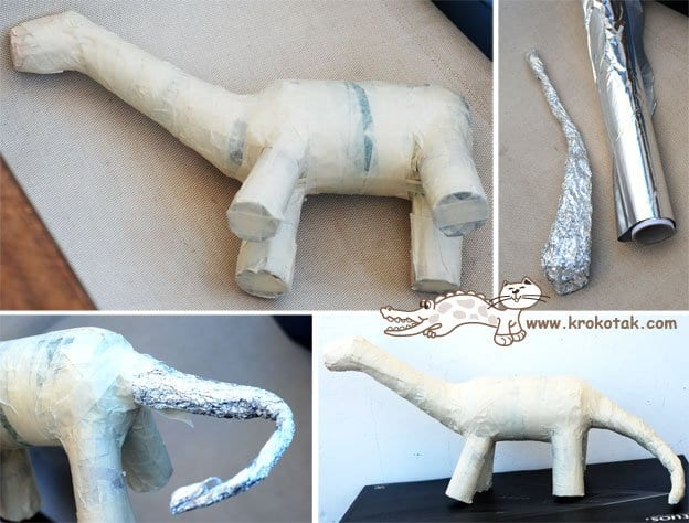 Pet Şişeden Dinozor Yapımı 4