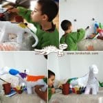 Pet Şişeden Dinozor Yapımı 6