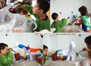 Pet Şişeden Dinozor Yapımı