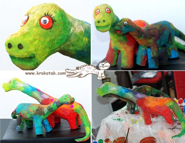 Pet Şişeden Dinozor Yapımı 7