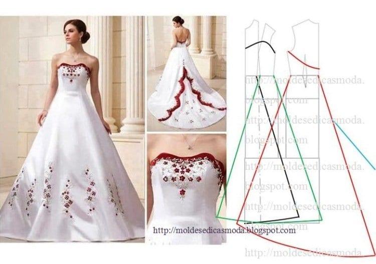 Как сшить платье свадебную