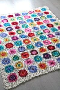 Renkli Örgü Battaniye Nasıl Yapılır? 2