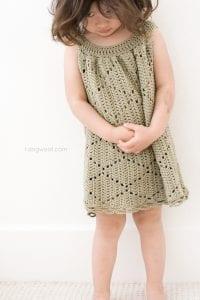 Tığ İşi Örgü Bebek Elbise Yapımı 4