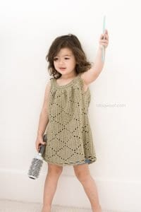 Tığ İşi Örgü Bebek Elbise Yapımı 5