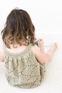 Tığ İşi Örgü Bebek Elbise Yapımı 6