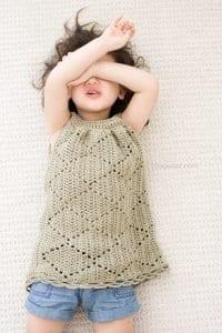 Tığ İşi Örgü Bebek Elbise Yapımı 7