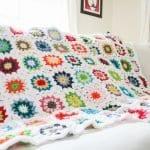 Tığ İşi Renkli Motifli Bebek Battaniye Yapımı 1