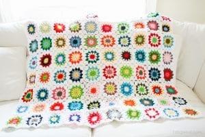 Tığ İşi Renkli Motifli Bebek Battaniye Yapımı