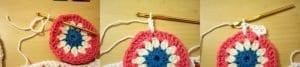 Tığ İşi Renkli Motifli Bebek Battaniye Yapımı 5