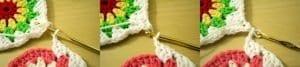 Tığ İşi Renkli Motifli Bebek Battaniye Yapımı 6