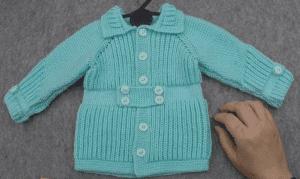 Yakadan Başlama Erkek Bebek Hırkası Nasıl Örülür? Videolu