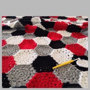 Altıgen Motifli Battaniye Yapımı 16