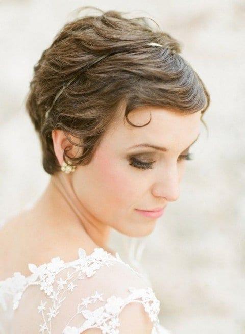 Düğün Kısa Saç Modelleri 16