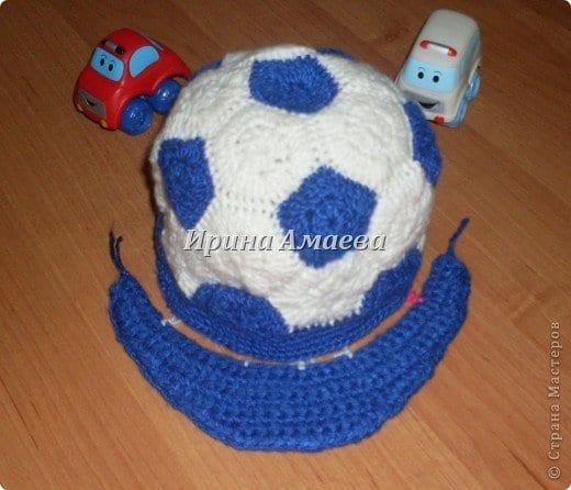 Futbol Topu Şeklinde Şapka Yapılışı 9