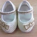 İncili Bebek Ayakkabısı Nasıl Yapılır? 49