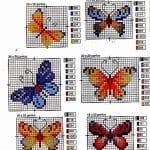 Kanaviçe Etamin Kelebek Şablonları 10