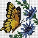 Kanaviçe Etamin Kelebek Şablonları 12
