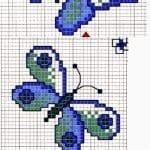 Kanaviçe Etamin Kelebek Şablonları 2